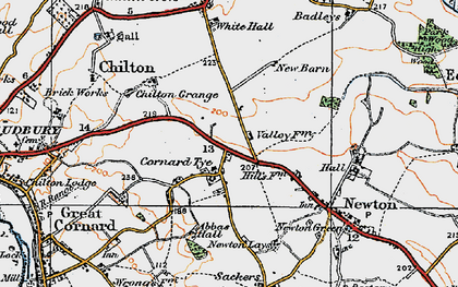 Old map of Abbas Hall in 1921