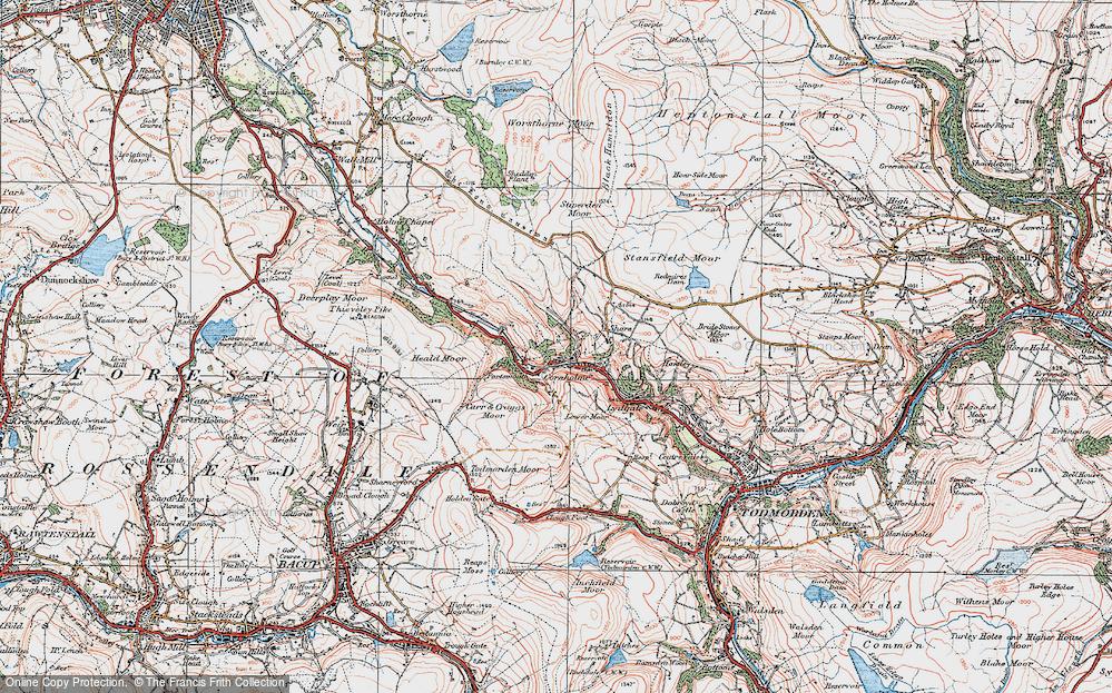 Old Map of Cornholme, 1924 in 1924