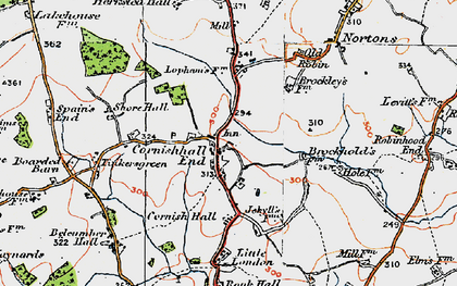 Old map of Tinkers Green in 1920