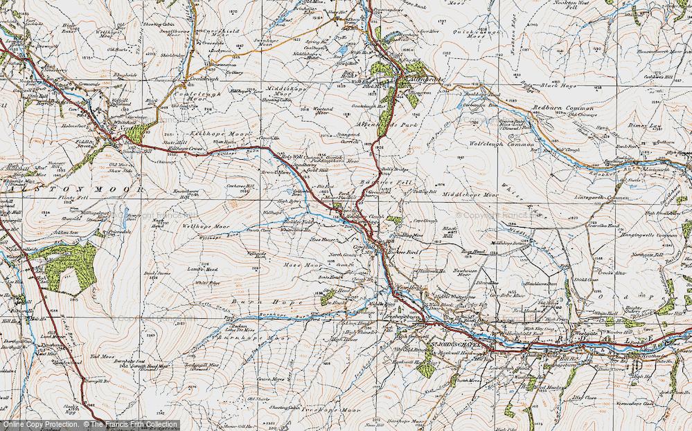 Old Map of Cornriggs, 1925 in 1925