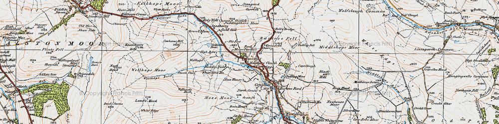 Old map of Whitestone Ho in 1925