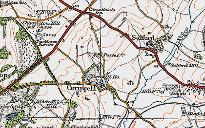 Old map of Whitequarry Hill in 1919
