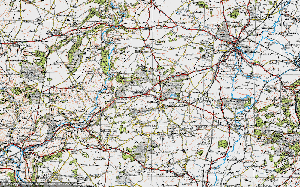 Old Map of Corsham, 1919 in 1919