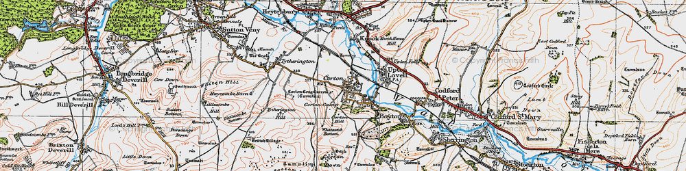 Old map of Whatcomb Bottom in 1919