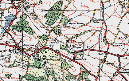 Old map of Lea Brook in 1924