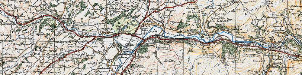 Old map of Wylfa in 1922