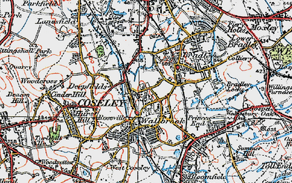 Old map of Coseley in 1921
