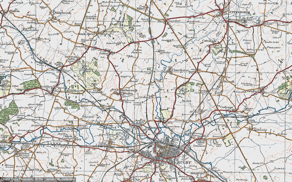 Old Map of Historic Map covering Lower Lodge Fm in 1920