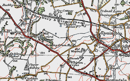 Old map of Cosford in 1921