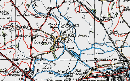 Old map of Cosgrove in 1919