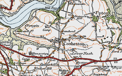 Old map of Bangeston Hall in 1922