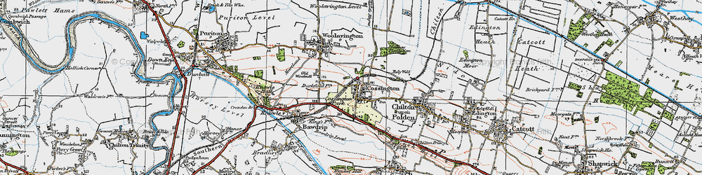 Old map of Cossington in 1919