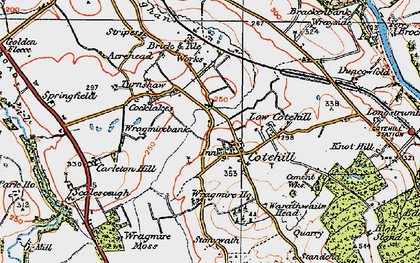 Old map of Wragmire Moss in 1925