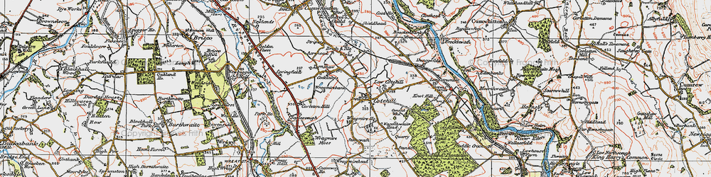 Old map of Wragmire Bank in 1925