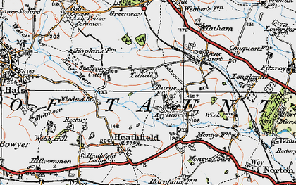 Old map of Tithill in 1919