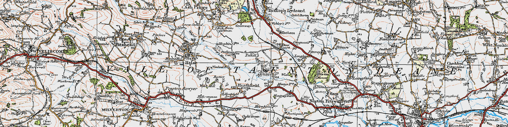 Old map of Tone Vale in 1919