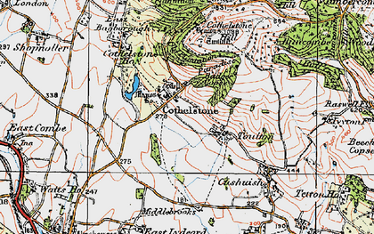 Old map of Cothelstone in 1919