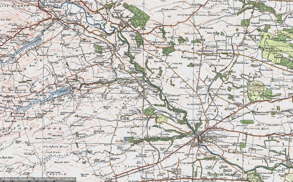 Old Map of Historic Map covering Balder Grange in 1925