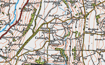 Old map of South Wood Fm in 1919