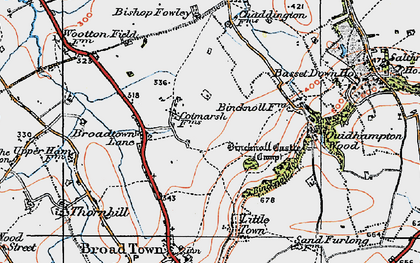Old map of Wootton Meadows in 1919