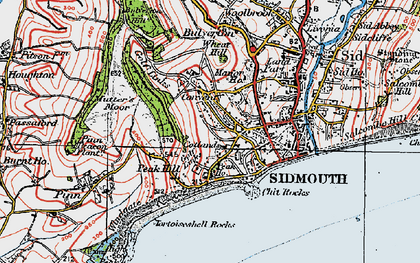 Old map of Windgate in 1919