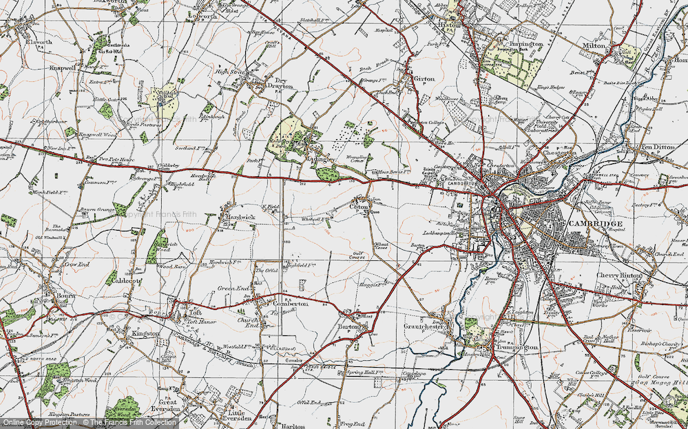 Old Map of Coton, 1920 in 1920