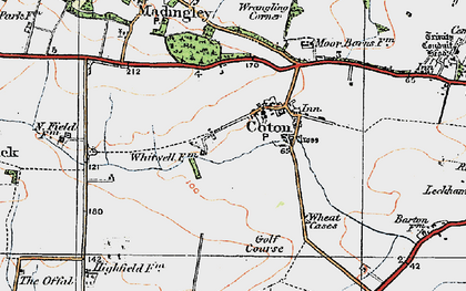 Old map of Wheatcases in 1920