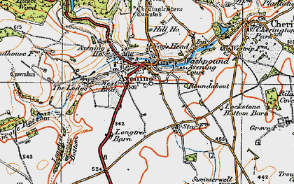Old map of Avening Court in 1919