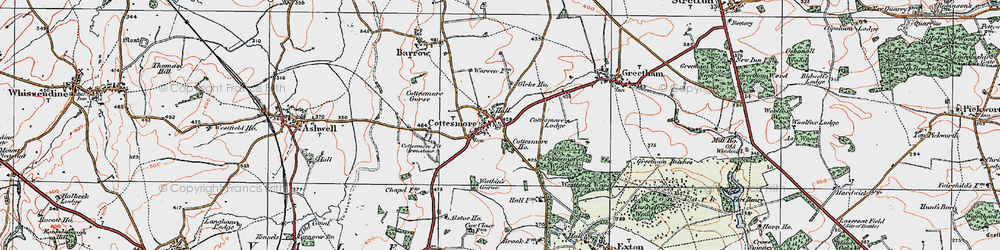 Old map of Cottesmore in 1921
