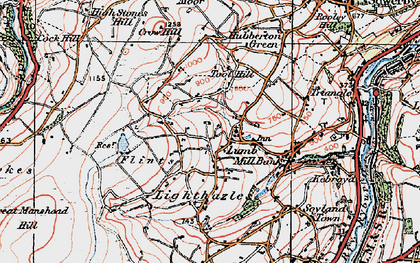 Old map of Baitings Pasture in 1925