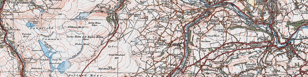 Old map of Toot Hill in 1925