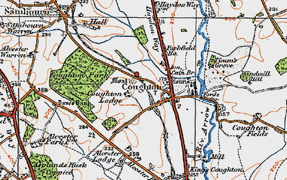 Old map of Alcester Lodge in 1919