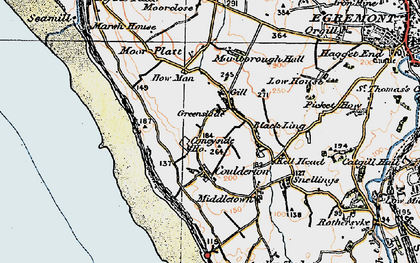 Old map of Ashley Grove in 1925
