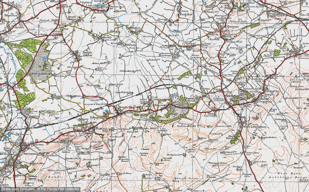 Old Map of Coulston, 1919 in 1919