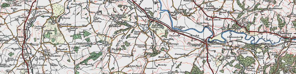 Old map of Lawns, The in 1921