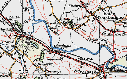 Old map of Leasowes in 1921