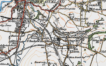 Old map of Auckland Park in 1925
