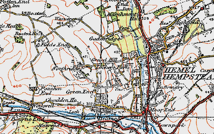 Old map of Counters End in 1920