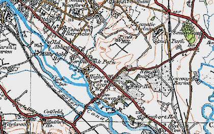 Old map of Countess Wear in 1919