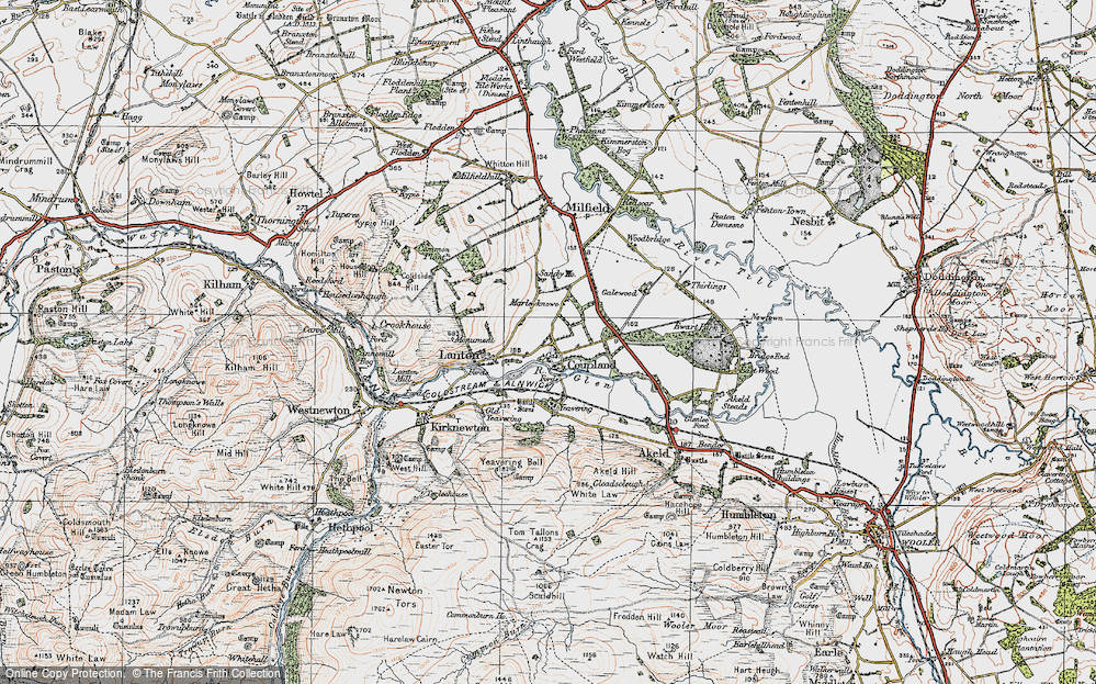 Old Map of Historic Map covering Lanton in 1926