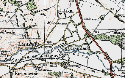 Old map of Yeavering in 1926