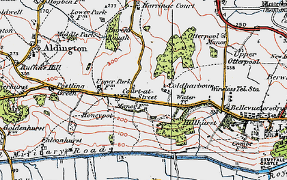 Old map of Aldergate Wood in 1920