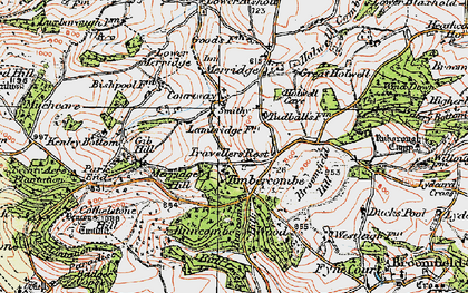 Old map of Timbercombe in 1919