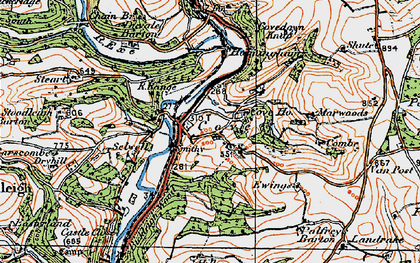 Old map of Cove in 1919