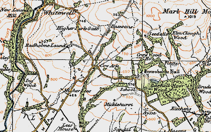 Old map of Wilsons in 1924
