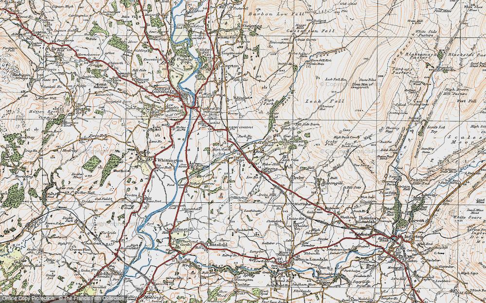 Old Map of Cowan Bridge, 1925 in 1925