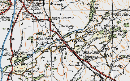 Old map of Cowan Bridge in 1925