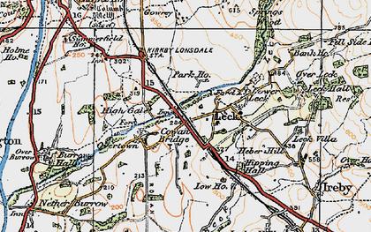 Old map of Cowan Bridge in 1925