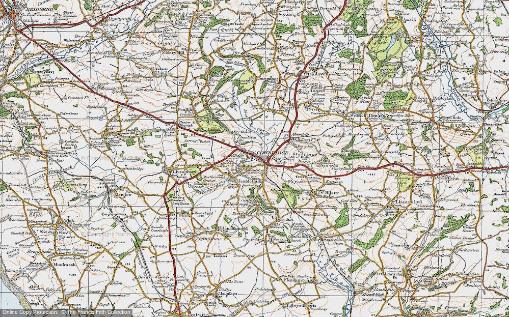Old Map of Cowbridge, 1922 in 1922