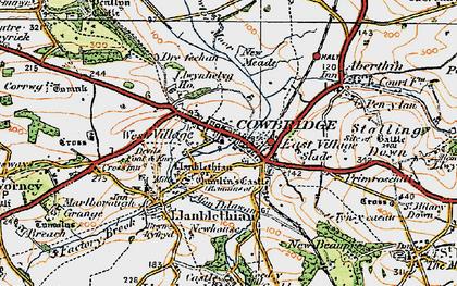 Old map of Cowbridge in 1922